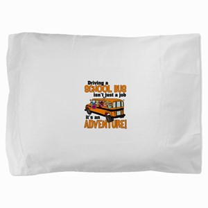 Driving a School Bus Pillow Sham