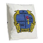 USS GURNARD Burlap Throw Pillow