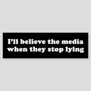 Lying media Bumper Sticker