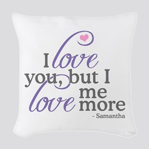 SATC: Charlotte Dating Woven Throw Pillow