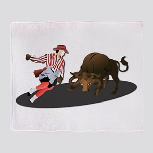 Clown and Bull 1-No-Text Throw Blanket