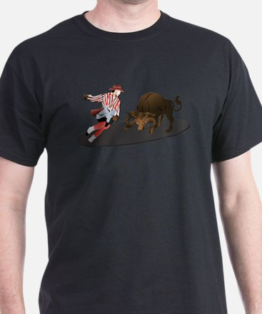 Clown and Bull 1-No-Text T-Shirt