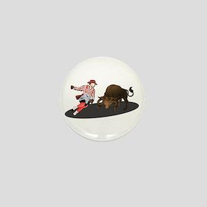 Clown and Bull 1-No-Text Mini Button