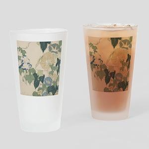 Morning Glories by Hokusai Drinking Glass