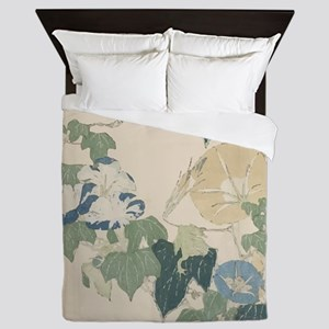 Morning Glories by Hokusai Queen Duvet