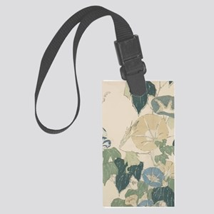 Morning Glories by Hokusai Large Luggage Tag