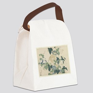 Morning Glories by Hokusai Canvas Lunch Bag