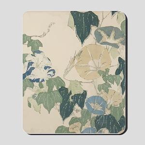 Morning Glories by Hokusai Mousepad