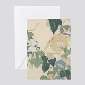 Morning Glories by Hokusai Greeting Card