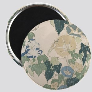 Morning Glories by Hokusai Magnet