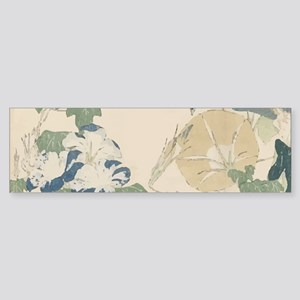 Morning Glories by Hokusai Sticker (Bumper)