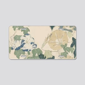 Morning Glories by Hokusai Aluminum License Plate