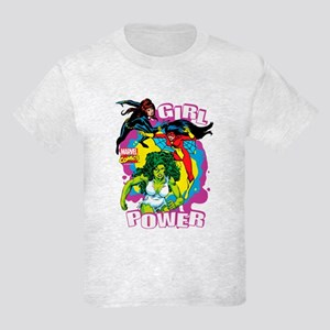 Marvel Comics Girl Power Kids Light T-Shirt