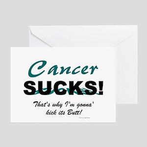 Ovarian Cancer Sucks 1.3 Greeting Card