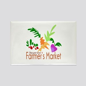 Farmer's Market Rectangle Magnet
