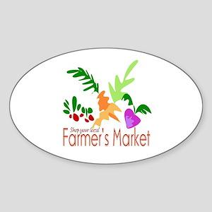 Farmer's Market Oval Sticker