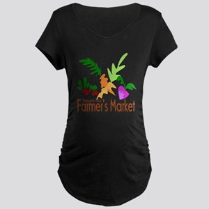 Farmer's Market Maternity Dark T-Shirt
