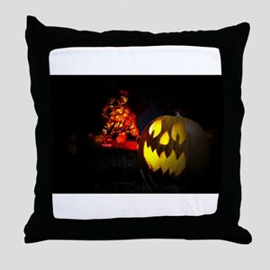 Jack-o-Lantern Throw Pillow