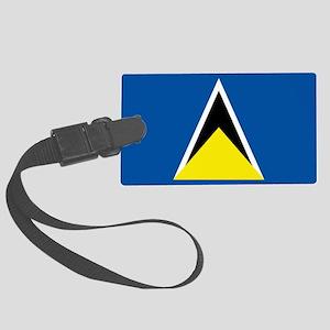 Saint Lucia flag Large Luggage Tag