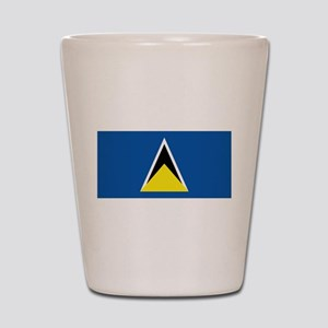Saint Lucia flag Shot Glass