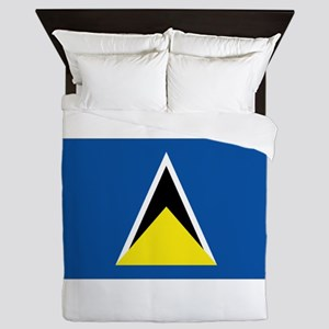 Saint Lucia flag Queen Duvet