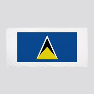 Saint Lucia flag Beach Towel
