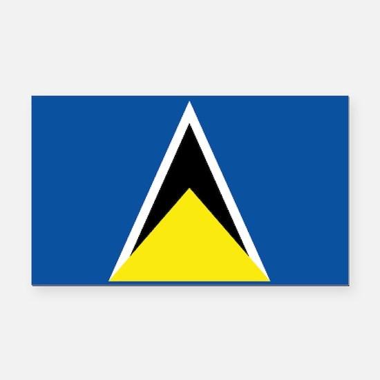 Saint Lucia flag Rectangle Car Magnet
