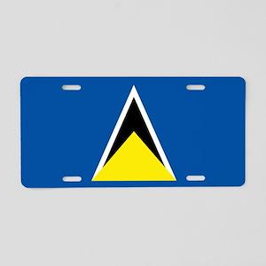 Saint Lucia flag Aluminum License Plate