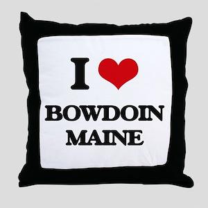 I love Bowdoin Maine Throw Pillow