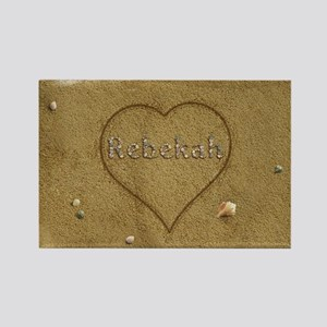 Rebekah Beach Love Rectangle Magnet