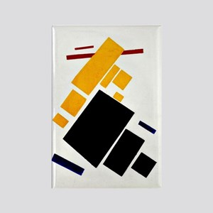 Malevich - Airplane Flying Rectangle Magnet