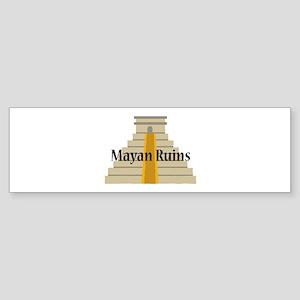 Mayan Ruins Bumper Sticker