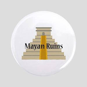 """Mayan Ruins 3.5"""" Button"""