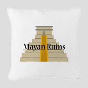Mayan Ruins Woven Throw Pillow