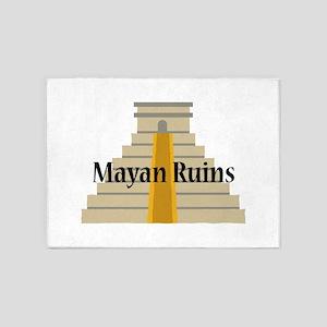 Mayan Ruins 5'x7'Area Rug