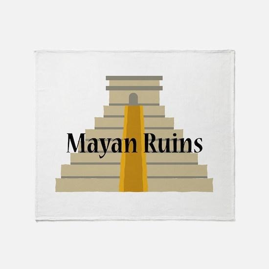 Mayan Ruins Throw Blanket
