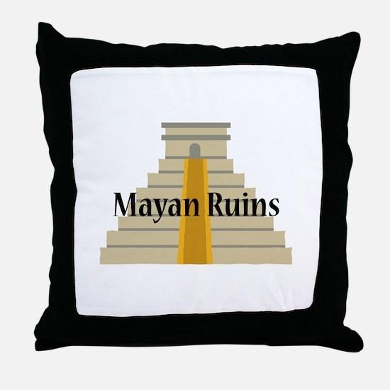 Mayan Ruins Throw Pillow