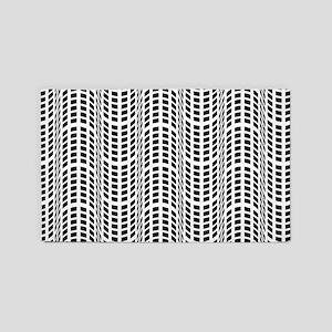 Black & White OpArt - Endless Flow Area Rug