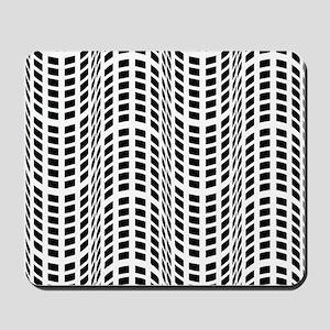 Black & White OpArt - Endless Flow Mousepad