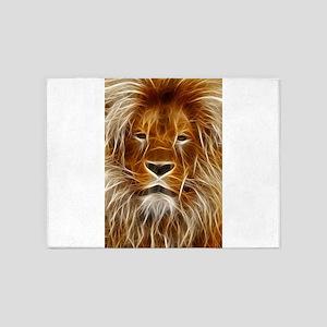 Lion Portrait Art 5'x7'Area Rug