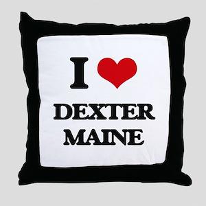 I love Dexter Maine Throw Pillow