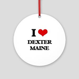 I love Dexter Maine Ornament (Round)
