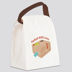 Packed With Love Canvas Lunch Bag