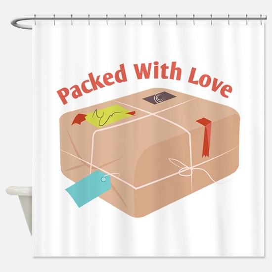 Packed With Love Shower Curtain