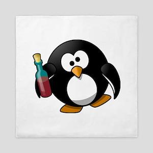 Drunk Penguin Queen Duvet