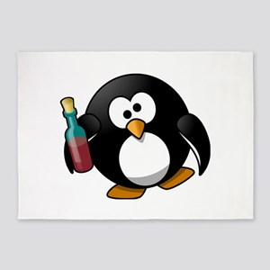 Drunk Penguin 5'x7'Area Rug