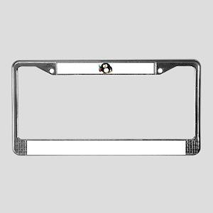 Drunk Penguin License Plate Frame