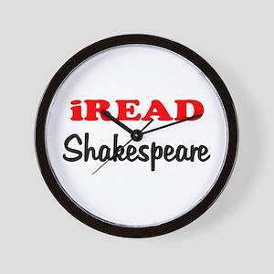 iREAD Shakespeare Wall Clock