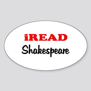 iREAD Shakespeare Oval Sticker