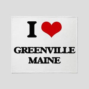 I love Greenville Maine Throw Blanket